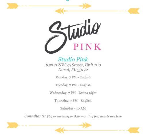 studio pink info