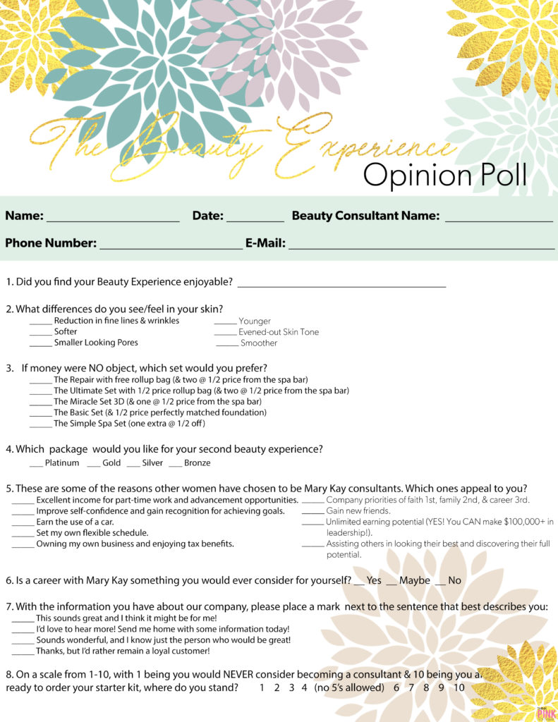 Beauty Experience Opinion Poll