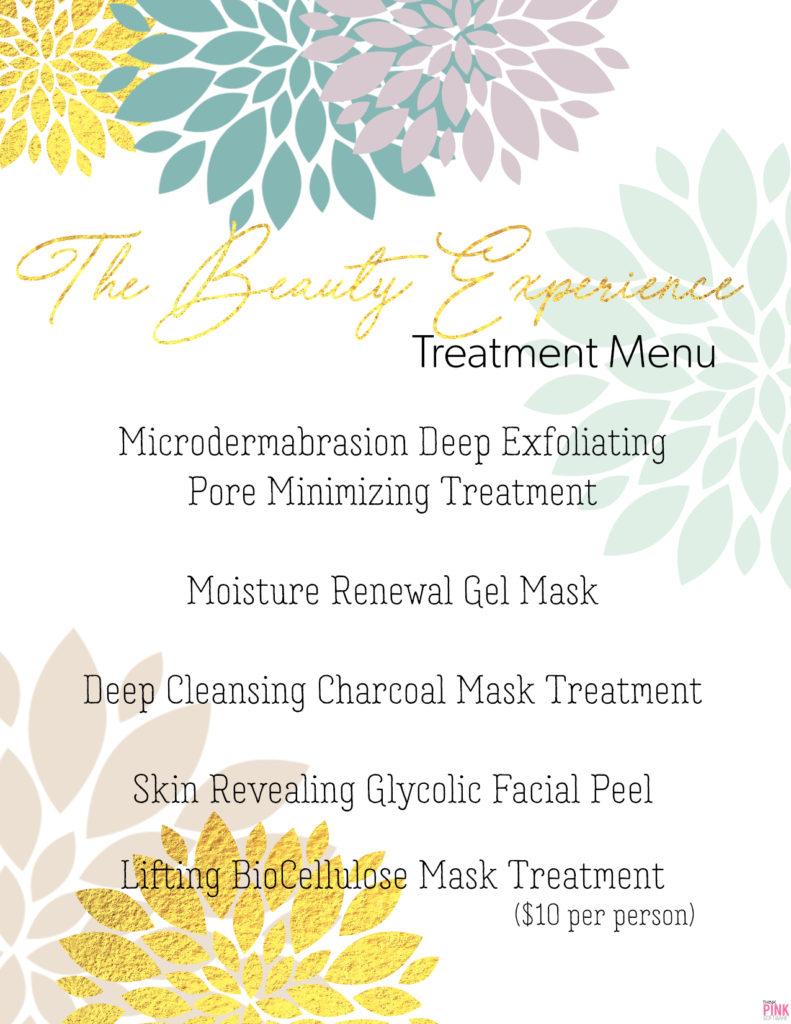 Beauty Experience Treatment Menu
